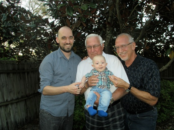 Four generations of Walter men. From l to r: Jason, Richard (Grandpa), Vito, Tom